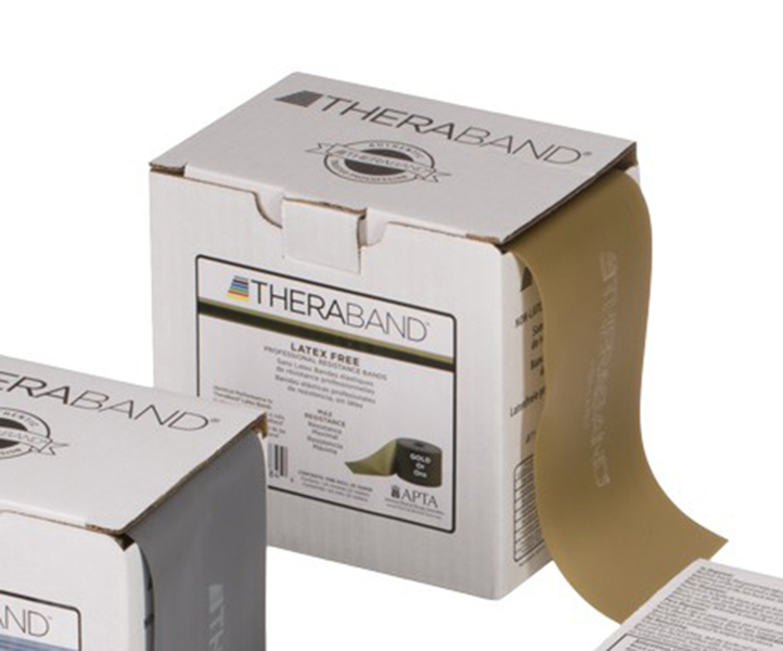 Thera-Band - Oefenband Thera-band, latexvrij, 22m goud